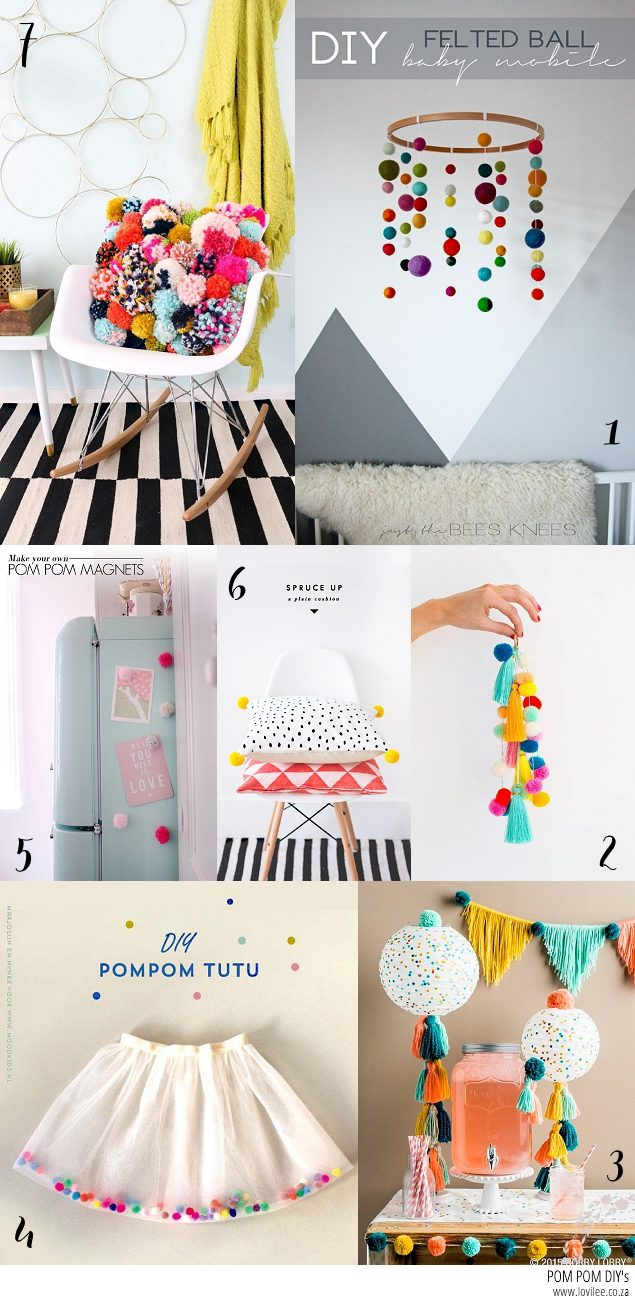 Pom Pom DIY inspiration via Pinterest