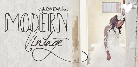 The modern, vintage bride {Sunkissedstudio}