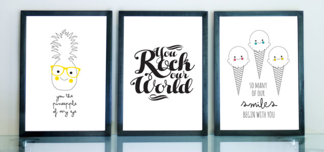 Julie Kins Personalised Art prints and stickers