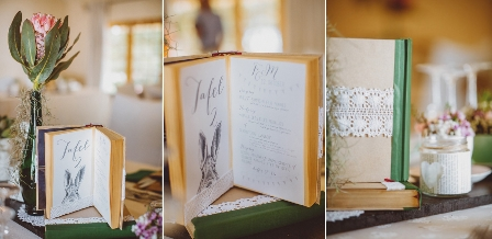 Wedding Table Book Numbers {DIY}