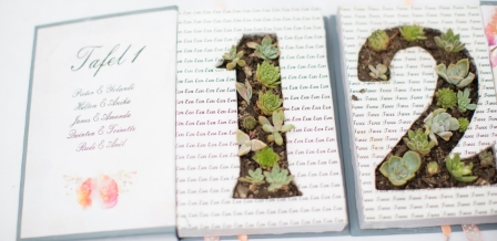 Succulent Book table numbers {DIY}