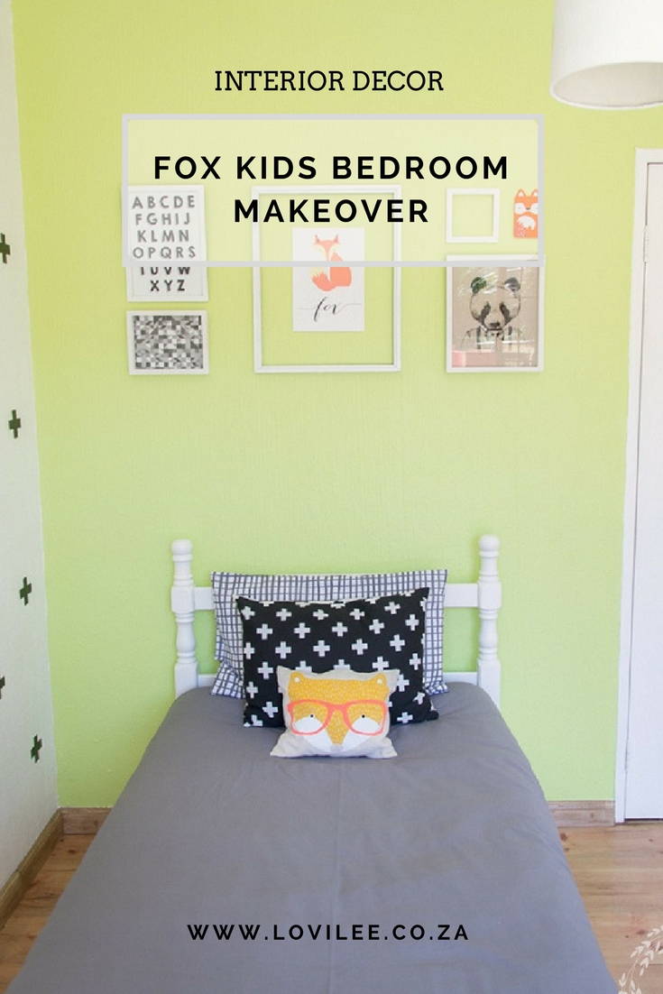 Fox kids bedroom makeover with Evolve paint