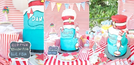 Dr Seuss cat in the Hat themed Kids Party