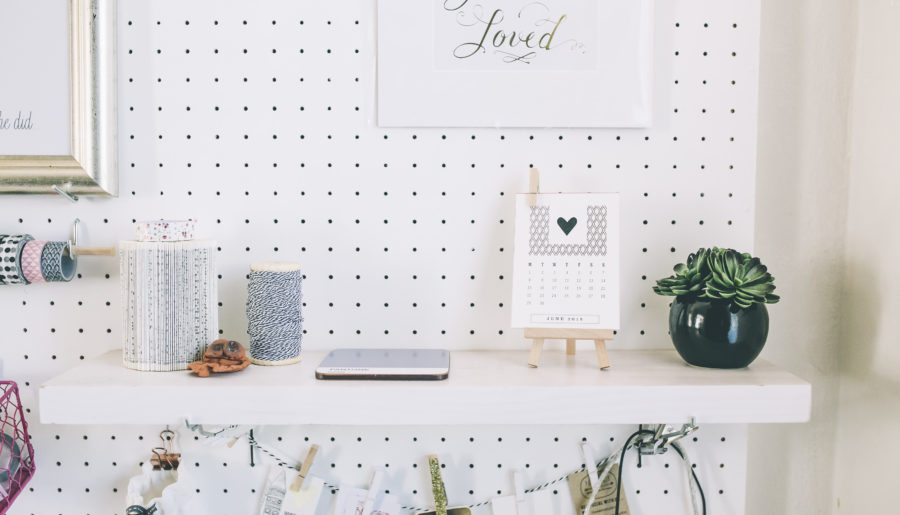 Create a Home Office DIY Pegboard in 7 easy steps