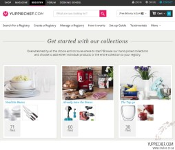 Yippiechef Gift Registry suggested collections