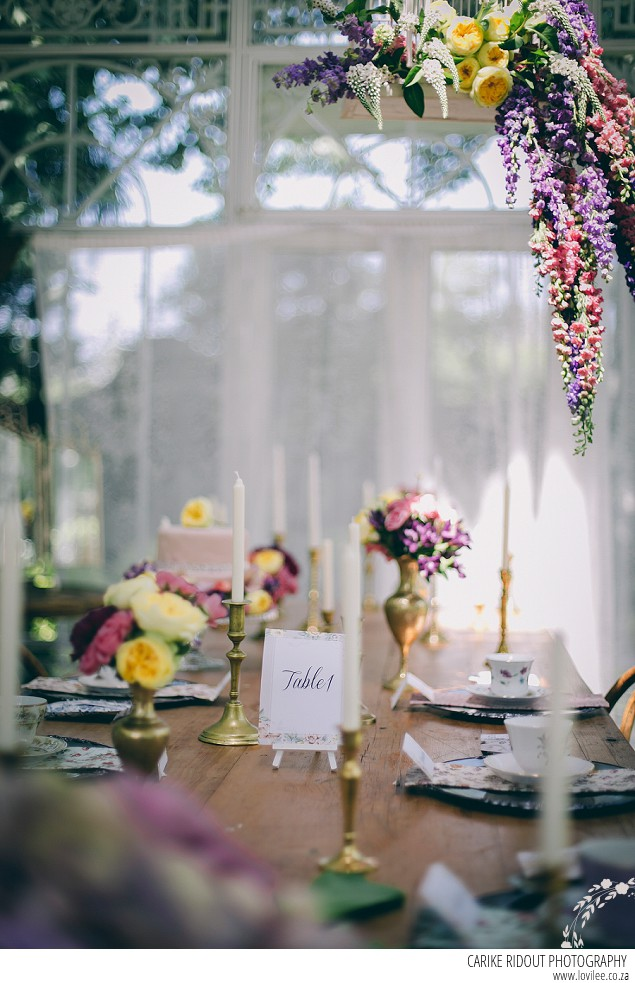 Florals & Frills Bridal Styled Shoot tablescape