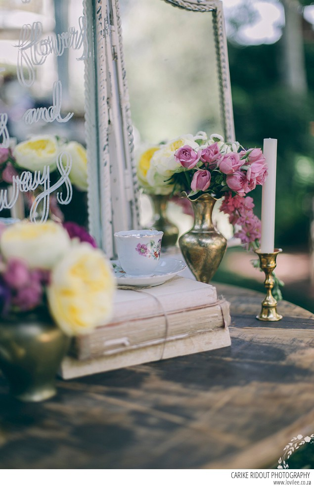 Wedding guest book table