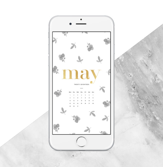 2017 Free May 2017 Calendar - smartphone and tablet version
