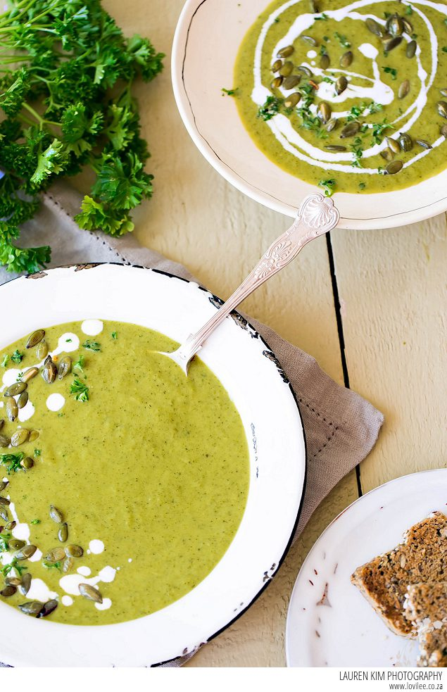Chilled Cucumber & Kale soup recipe