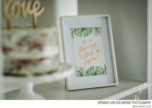 Be a flamingo in a flock of pigeons greenery printable poster