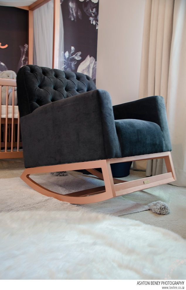 Custom rocking chair from Ninho Interiors
