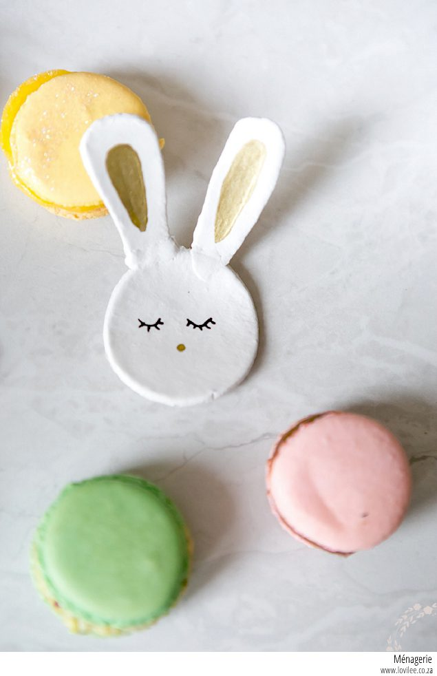 Make your own air-dry clay bunnies for Easter