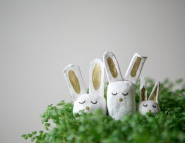 Air dry clay bunnies