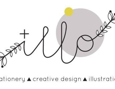 Introducing illo illustration, stationary and creative design logo