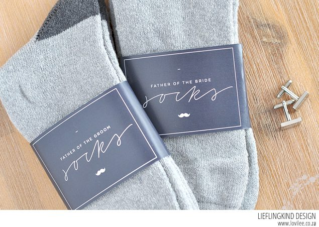 Free sock label printable for the groom and his men