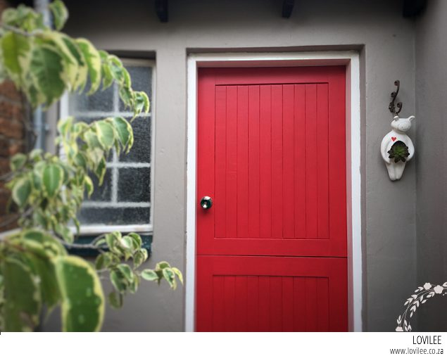 See my red front door make-over