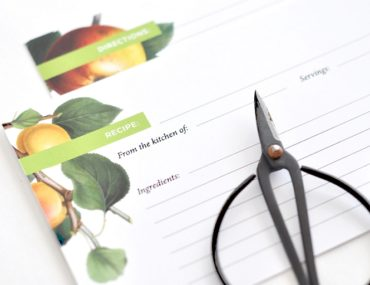 Download these free botanical recipe cards