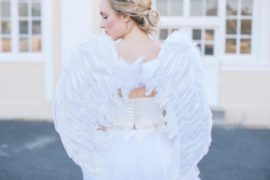 Romeo & Juliet styled shoot with angel wings