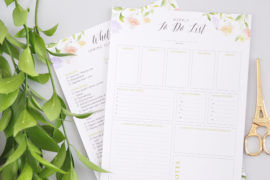 Weekly and Spring Cleaning checklist printables