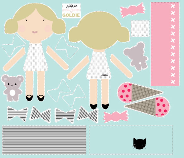 goldie-panel fabric doll from See Kate Sew