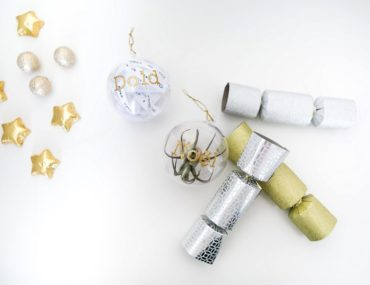 DIY filled clear Christmas baubles