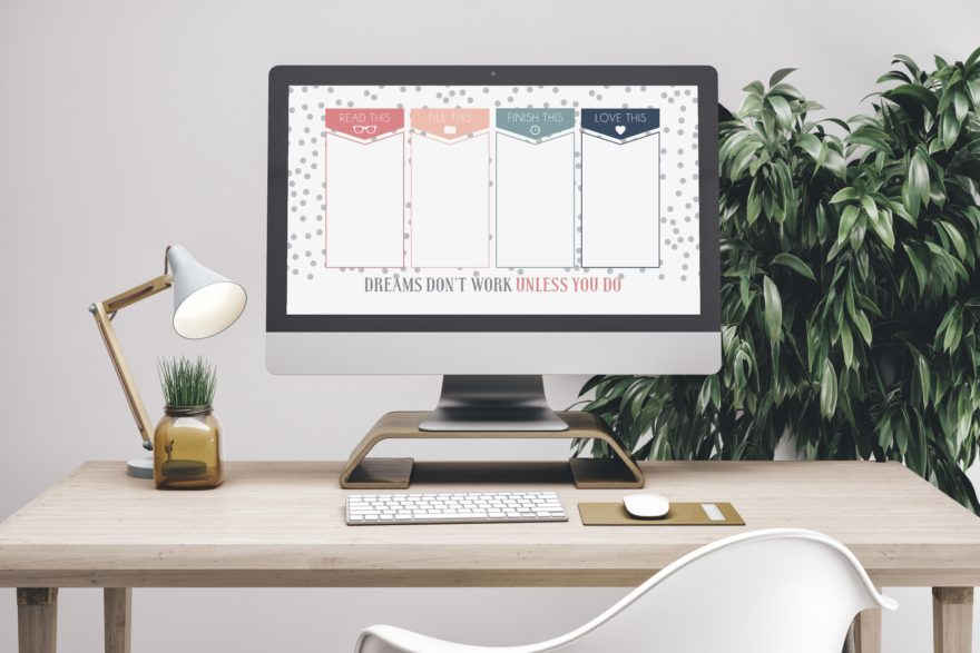 Get Organised With This Free Desktop Organizer Background Lovilee