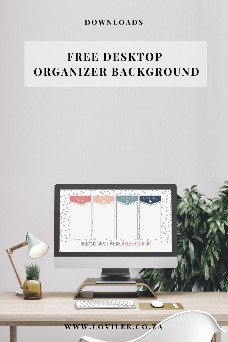 Get organised with this free desktop background
