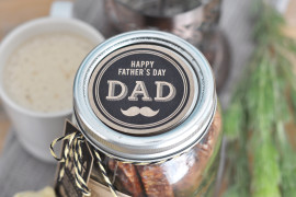 Download these Father's day free gift jar printables