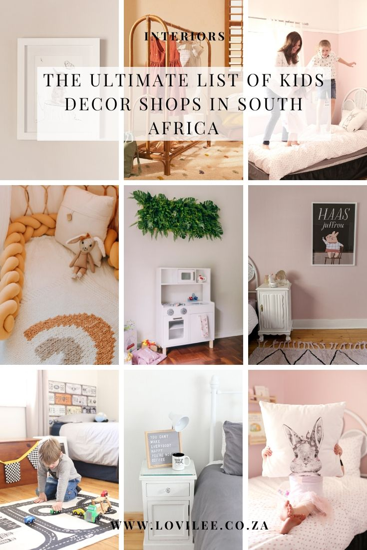 The ultimate list of Kids Decor Shops in South Africa   Lovilee ...