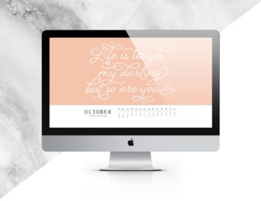 October Digital Calendar