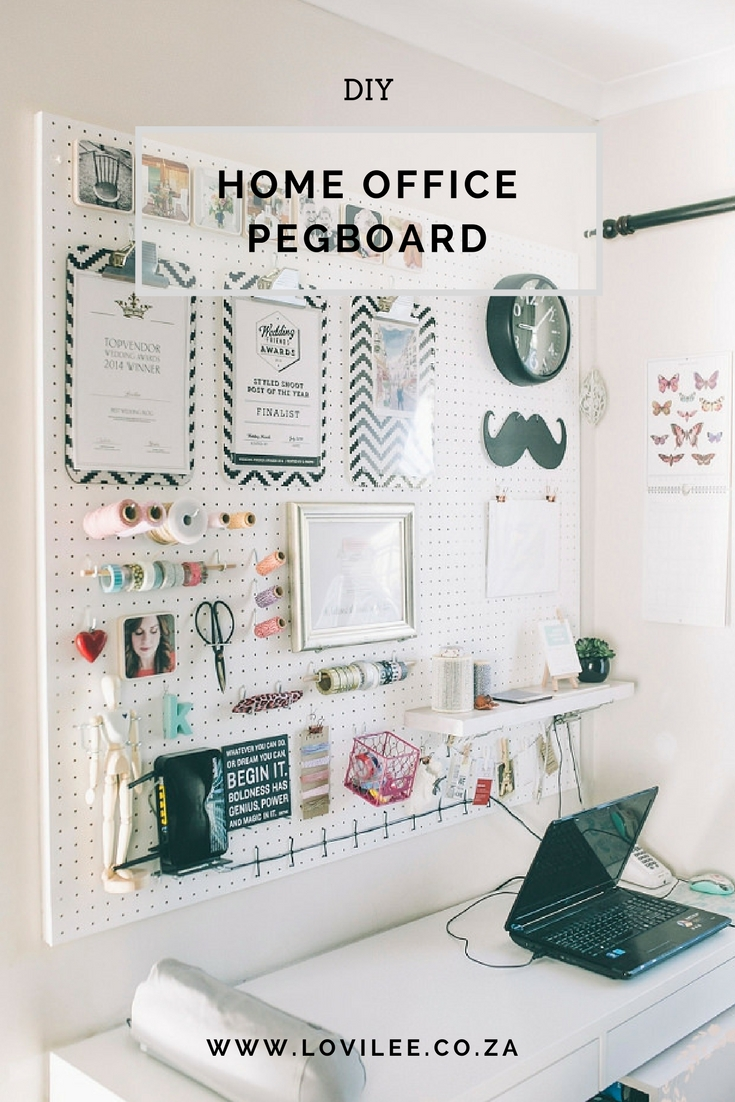 diy pegboard for home office tutorial