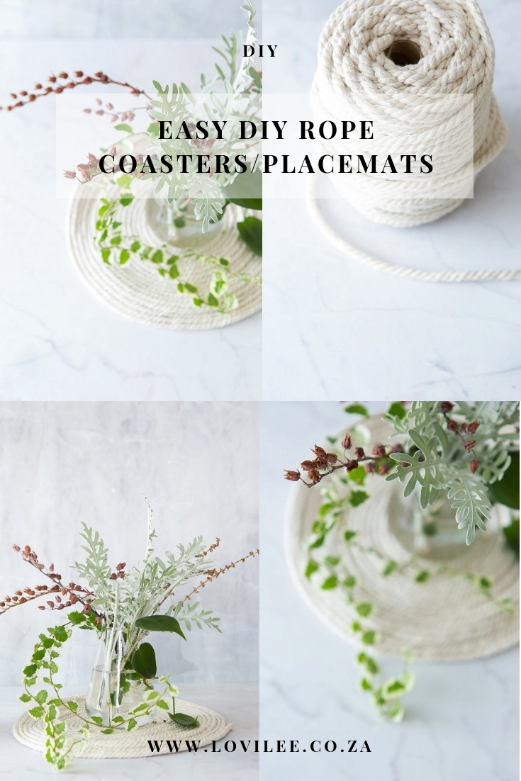 DIY rope coasters and placemats