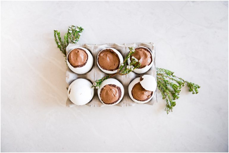 Chocolate Mousse Filled Easter Eggs