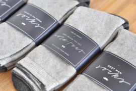 Free cold feet sock label printable for the groom and his men
