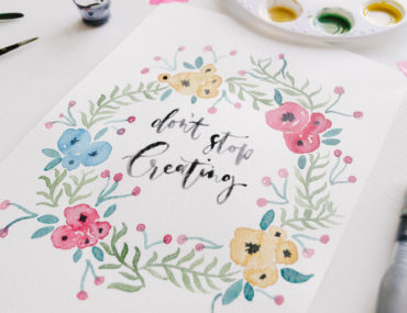 DIY Watercolour Wreath Tutorial with Caterham Design Co.