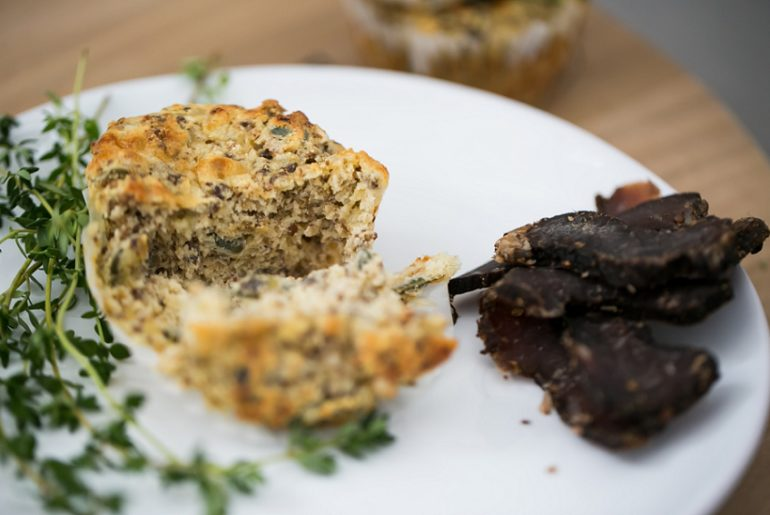 Biltong and Cheese Muffins