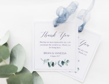 Free printable Wedding Thank you tags