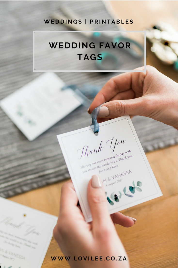 photo regarding Printable Wedding Favor Tags called Down load Individuals no cost printable Marriage Thank your self tags