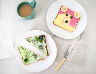 Recipes for kids - Unicorn Toast recipe by Lauren Kim Food Photography