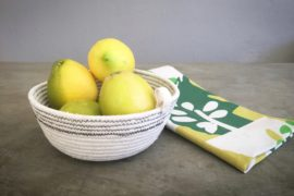 cotton rope basket tutorial