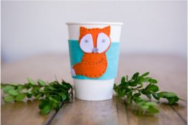 Felt Fox Coffee Cup Sleeve