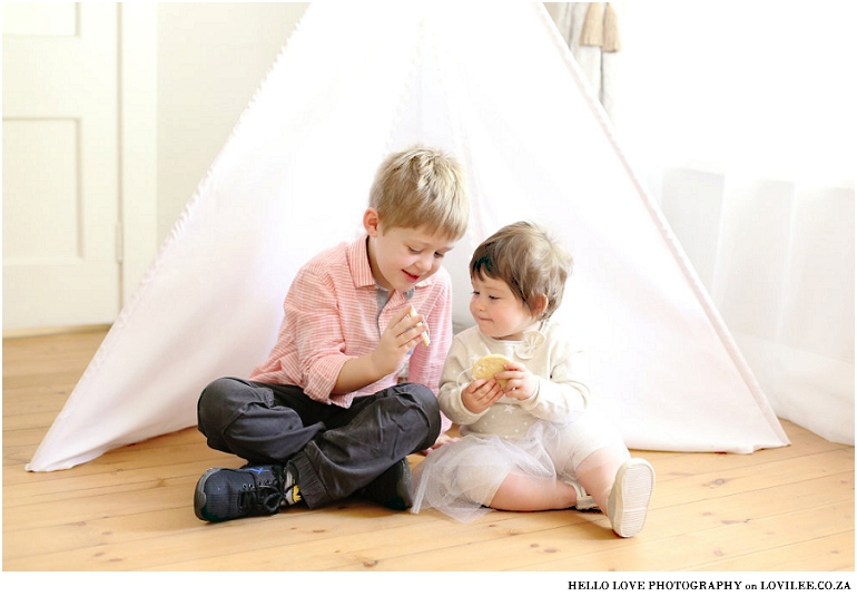 Lifestyle image of kids in front of Teepee