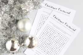 Christmas Games Word search