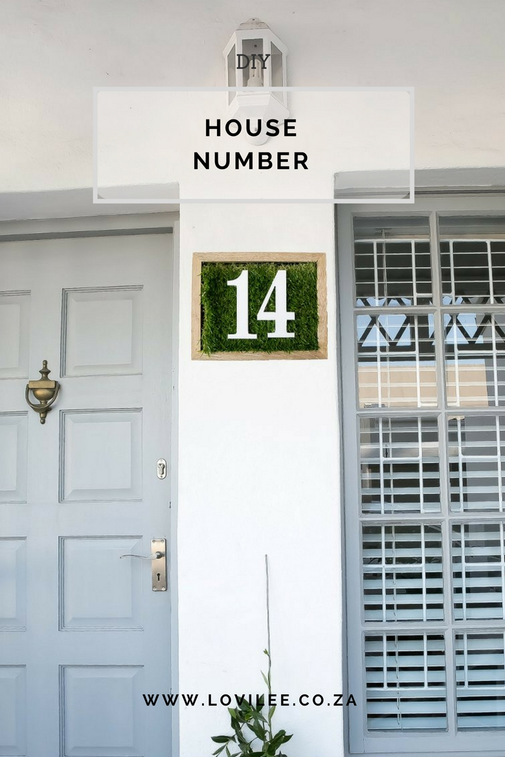 Weekend DIY House number