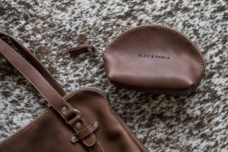 Alex & Marla leather make-up bags