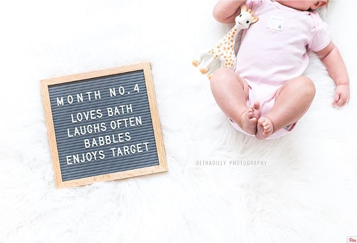 bethadilly letter board 3 month old image
