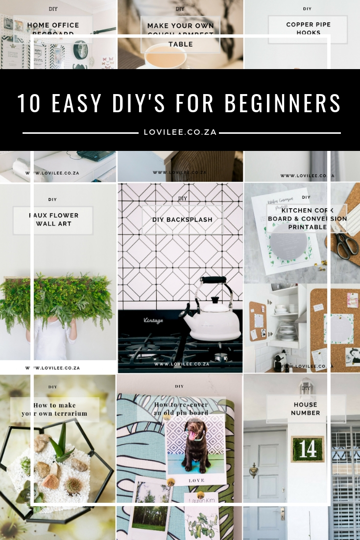 10 Easy DIYs for beginners