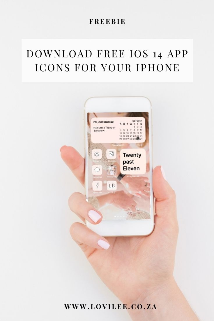 Download free iOS 14 app icons for your iphone